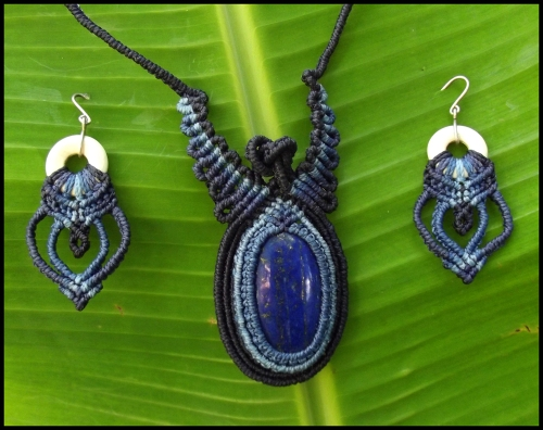 Lapis-Necklace-and-Earring-set